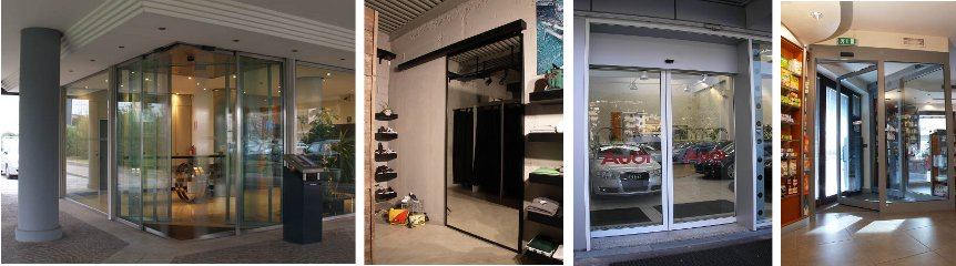 Porte automatiche scorrevoli per negozi automacenter - Spazzole per porte scorrevoli ...